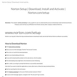 Download, Install and Activate