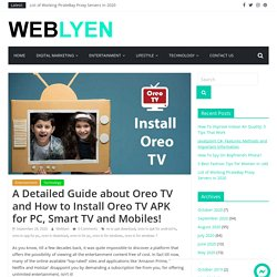 How to Download and Install Oreo TV APK on Android Phone and Laptop