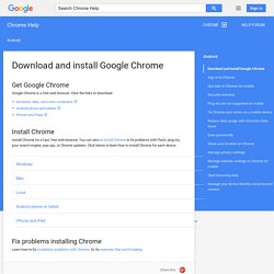 Download and install Google Chrome - Google Chrome Help
