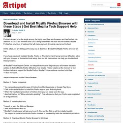 Download and Install Mozilla Firefox Browser with these Steps