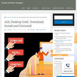 A Guide to Download, Install and Uninstall AOL Desktop Gold