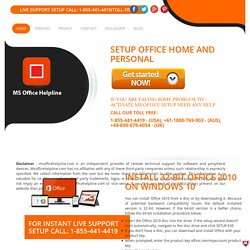 How to download, install Office setup 2010 for Windows 10