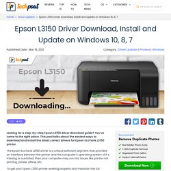 Epson L3150 Driver Download, Install and Update on Windows 10, 8, 7