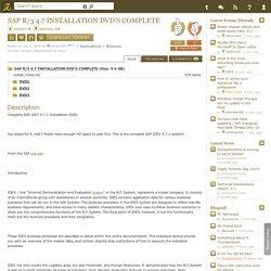 Download SAP R/3 4.7 INSTALLATION DVD'S COMPLETE Torrent - Kickass Torrents