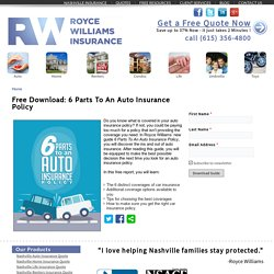 Download Free Ebook: 6 Parts To An Auto Insurance Policy