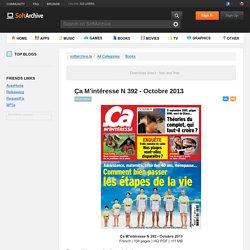 Ça M'intéresse N 392 - Octobre 2013