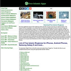 Download Free Islamic Ringtones - Free Islamic Apps