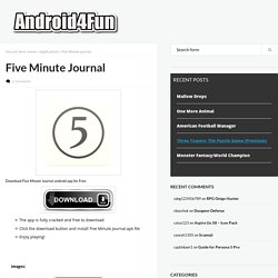 Download Five Minute Journal Android APK Game for Free - Android4Fun.net
