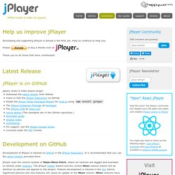 Download jPlayer : HTML5 Audio & Video for jQuery