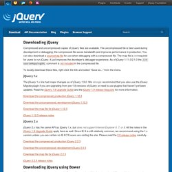 Downloading jQuery