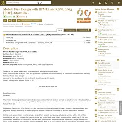 Download Mobile First Design with HTML5 and CSS3, 2013 [PDF]~StormRG~ Torrent - KickassTorrents