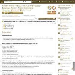 Download Rosetta Stone TOTALe - v5.0.37 Build 43113 + Language Packs + Audio Companion Torrent