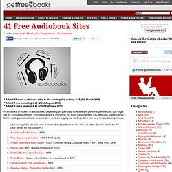 Download Free Ebooks » 41 Free Audiobook Sites