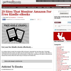29 Sites That Monitor Amazon For Free Kindle eBooks