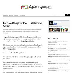 Download SnagIt for Free - Full Licensed Version