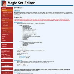 Magic Set Editor