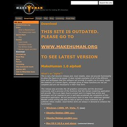 MakeHuman download