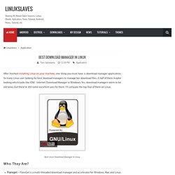 Best Download Manager In Linux - Linuxslaves