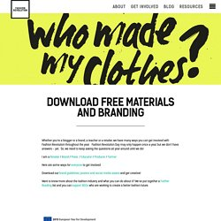 Download free materials and branding