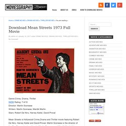 Download Mean Streets 1973 Full Movie