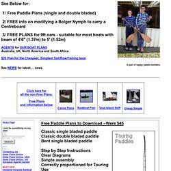 Free Plans for Download - Michael Storer Boat Design