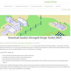 Download Sandia's Microgrid Design Toolkit (MDT)