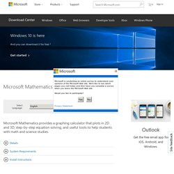 Download details: Microsoft Mathematics 4.0