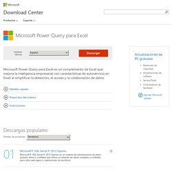 Download Microsoft Power Query para Excel from Official Microsoft Download Center