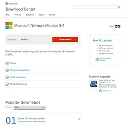 Microsoft Network Monitor 3.4 - Microsoft Download Center - Download Details