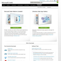 Download Microsoft Web Platform, Windows Web Apps