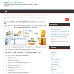 Download Microsoft Office 2007 Free Full Version Product Key