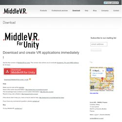 Download ‹ MiddleVR – The Virtual Reality Company !