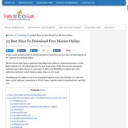 25 Best Sites To Download Free Movies Online