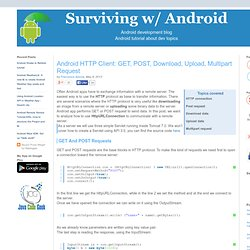 Android HTTP Client: GET, POST, Download, Upload, Multipart Request | Surviving w/ Android