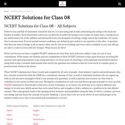 Free Download NCERT Solutions for Class 8 - CBSE Astra