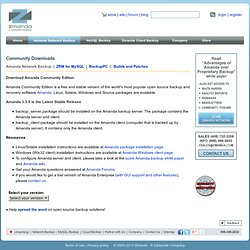 Download Amanda Network Backup - Pre Packaged and Tested