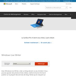 Download Windows Live Writer from Official Microsoft Download Center