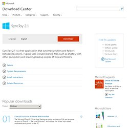 SyncToy 2.1 - Microsoft Download Center - Download Details