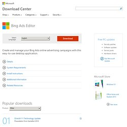 Download details: Microsoft adCenter Desktop (Beta)