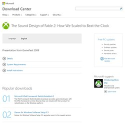 Download The Sound Design of Fable 2: How We Scaled to Beat the Clock from Official Microsoft Download Center