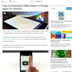 How to Download Offline Maps in Google Maps for Android