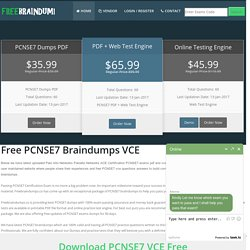 Download Free PCNSE7 Braindumps VCE