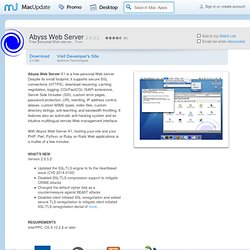Download Abyss Web Server for Mac - Free personal Web server