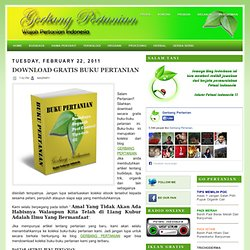 DOWNLOAD GRATIS BUKU PERTANIAN ~ GERBANG PERTANIAN