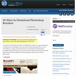 45 Sites to Download Photoshop Brushes at DzineBlog