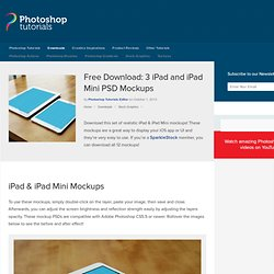 Free Download: 3 iPad and iPad Mini PSD Mockups