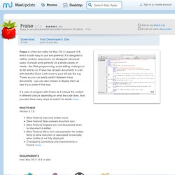 Download Fraise for Mac - Easy to use and powerful text editor based on Smultron