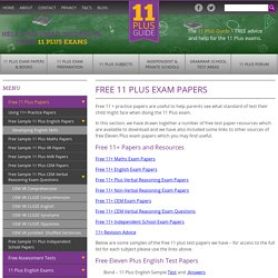 11 Plus Papers. Download Free 11 Plus Practice Exams With Answers