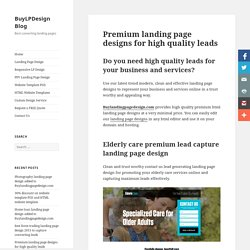 Download premium landing page design for high leads & sales