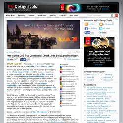 Download Adobe CS5 Free Trials – All Direct Links without Akamai